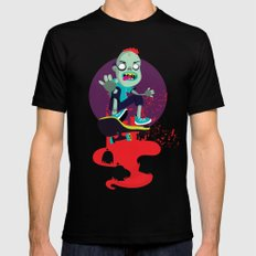 Skater zombie Black Mens Fitted Tee SMALL