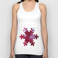 Red Snowflake Unisex Tank Top