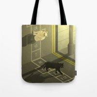 Cat Hopscotch  Tote Bag
