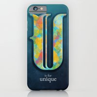 iPhone & iPod Case featuring U is for Unique by Efi Tolia