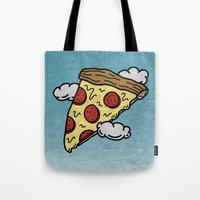Floating Pizza Tote Bag