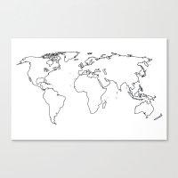 WORLD II Canvas Print