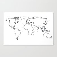 WORLD II Canvas Print