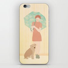Girl and dog iPhone & iPod Skin