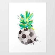 Soccerapple Art Print