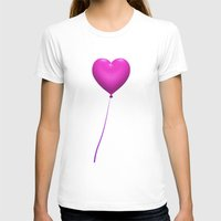 Love is in the Air! Womens Fitted Tee White SMALL