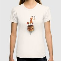 These Burgers Are Crazy … Womens Fitted Tee Natural SMALL