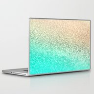 Laptop & iPad Skin featuring GOLD AQUA by Monika Strigel