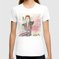 Schiele's Bowie Womens Fitted Tee White SMALL