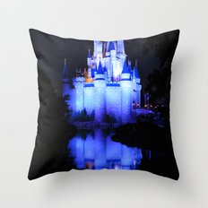 Cinderella's Castle III Throw Pillow