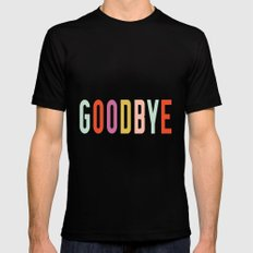 Goodbye Mens Fitted Tee Black SMALL