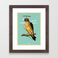 Making fun of the falcon Framed Art Print