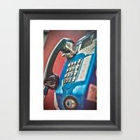 One Call Framed Art Print