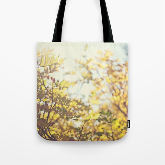 Fading Fall Leaves Tote Bag
