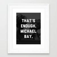 Bayhem  Framed Art Print