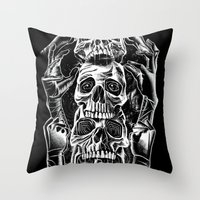 Skull Totem Throw Pillow