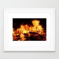 Easingwold Bonfire (16) Framed Art Print