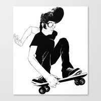 Elvis Was A Skater Canvas Print