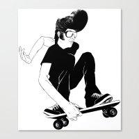 Elvis Was A Skater Canvas Print