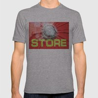 re-store Mens Fitted Tee Athletic Grey SMALL