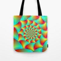 Spiral Spheres In Red Ye… Tote Bag