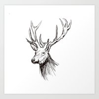 Deer - Digital Art Print