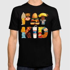 FAT KID SMALL Mens Fitted Tee Black