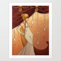 Elegant Diamonds Art Print