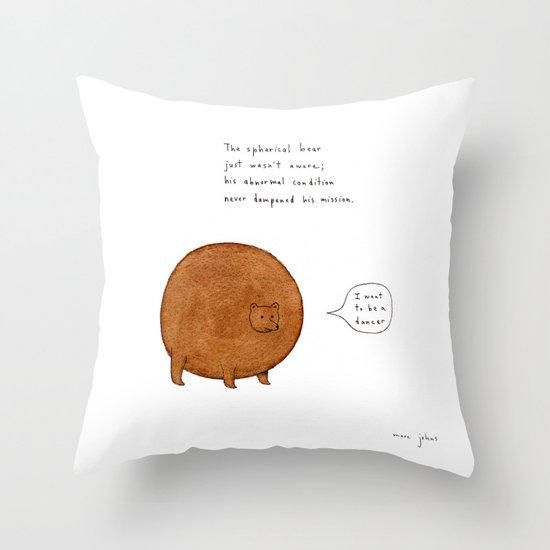 the spherical bear Throw Pillow