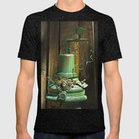 Organic Machine Of Time Mens Fitted Tee Tri-Black SMALL