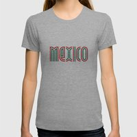 Mexico! Womens Fitted Tee Athletic Grey SMALL