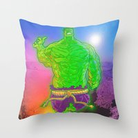 Incredible Hulk Throw Pillow