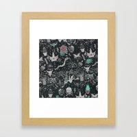 Bones In The Desert Framed Art Print