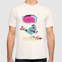 he loves me / he loves me not? Mens Fitted Tee Natural SMALL
