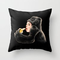 Banana is a favorite Throw Pillow