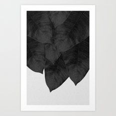 Banana Leaf Black & White I Art Print