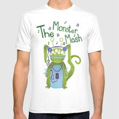 The Monster Mash Mens Fitted Tee White SMALL