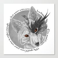 fox and crow  Canvas Print