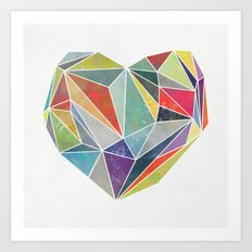 Heart Graphic 5 Art Print