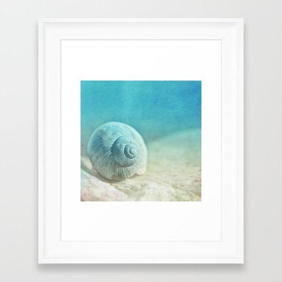 APRICOTEE   Blue version Framed Art Print