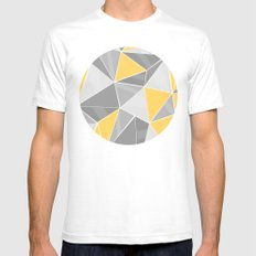 Pattern, grey - yellow Mens Fitted Tee White SMALL