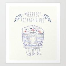 purrrfect cat Art Print
