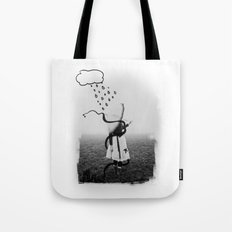Holding Umbrella Tote Bag