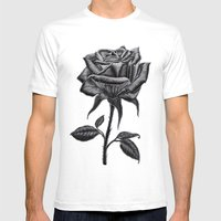 Silver Rose Mens Fitted Tee White SMALL
