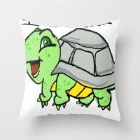 childish turtle  Throw Pillow