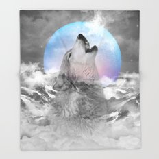 Maybe the Wolf Is In Love with the Moon / Unrequited Love Throw Blanket