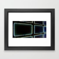 Elastic Neon part 1 Framed Art Print