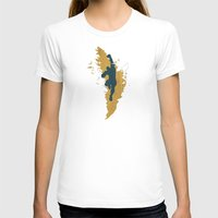 Feed The Tiger (Homage To Sagat) Womens Fitted Tee White SMALL