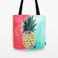 Pineapple Leia Tropical Tote Bag