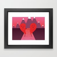 The Course of Love Framed Art Print